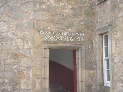 Marriage Stone Lintel Plewlands House South Queensferry