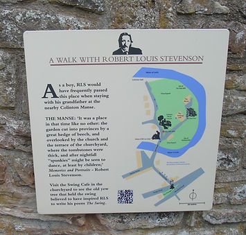 A walk with Robert Louis Stevenson sign