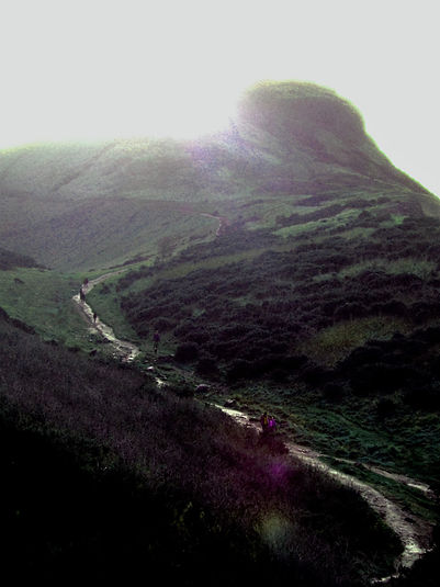 the path to the top of Arthur Seat Edinburgh