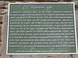 St Martin's Kirk Plaque Haddington East Lothian