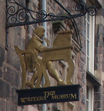 Writer's Museum Sign Lawnmarket Lady Stair's House Royal Mile Edinburgh