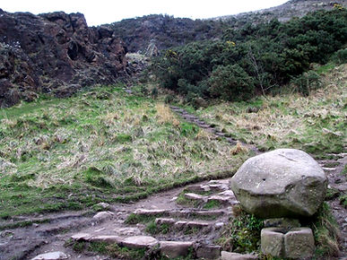the path to the top passing st anthony's well on arthur seat edinburgh