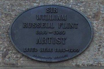 William Russell Flint Plaque.JPG