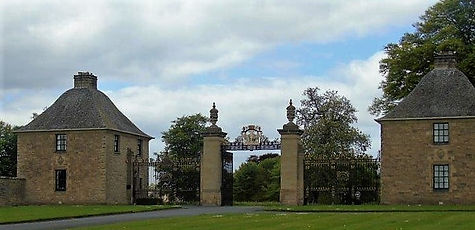 Floors Castle Gates Kelso Scottish Borde