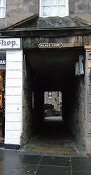 Milne's Court Lawnmarket Royal Mile Edinburgh entrance