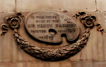 sir henry raeburn plaque york place edinburgh