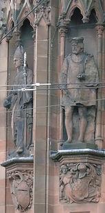 statues of Sir David Lindsay and Gavin Douglas scottish national portrait gallery queen street edinburgh