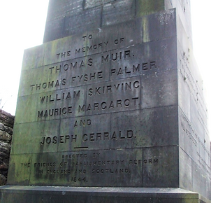 Martyrs' Monument Names Old Calton Burial Ground Edinburgh