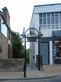 Robert Louis Stevenson Steps Colinton Village