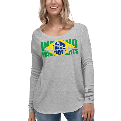 Brazilian Flag Ladies' Long Sleeve Tee