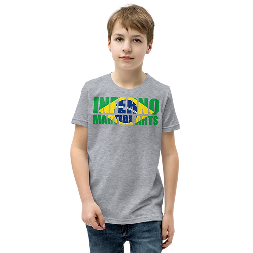 Brazilian Flag Youth Short Sleeve T-Shirt