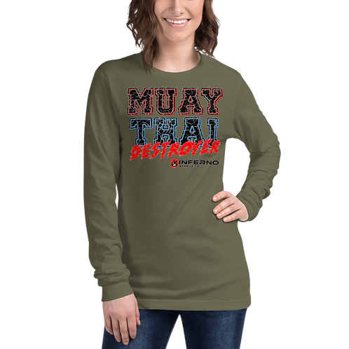 Muay Thai Destroyer Unisex Long Sleeve Tee