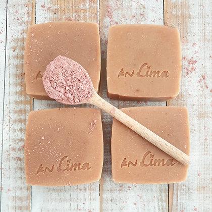 סבון רחצה שמן זית חמאת קקאו וקרם קוקוס