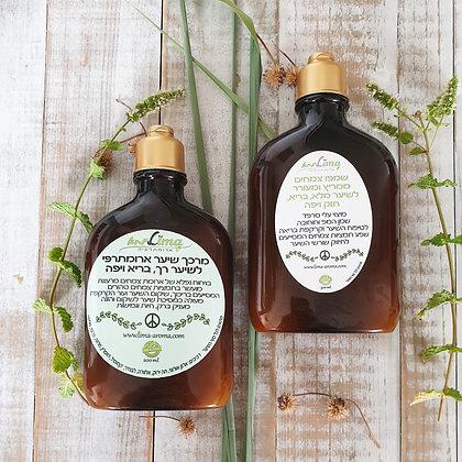 ערכת טיפוח לשיער שמפו ומרכך צמחים בניחוחות חדשים של פריחה
