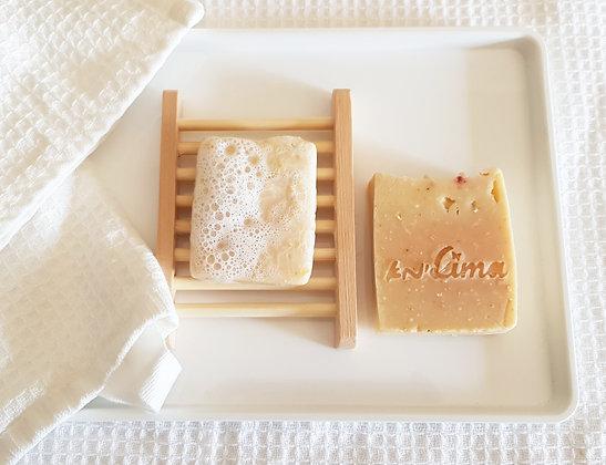 סבון שיבולת אבץ חמאת שיאה וקרם קוקוס של לימא ארומתרפיה