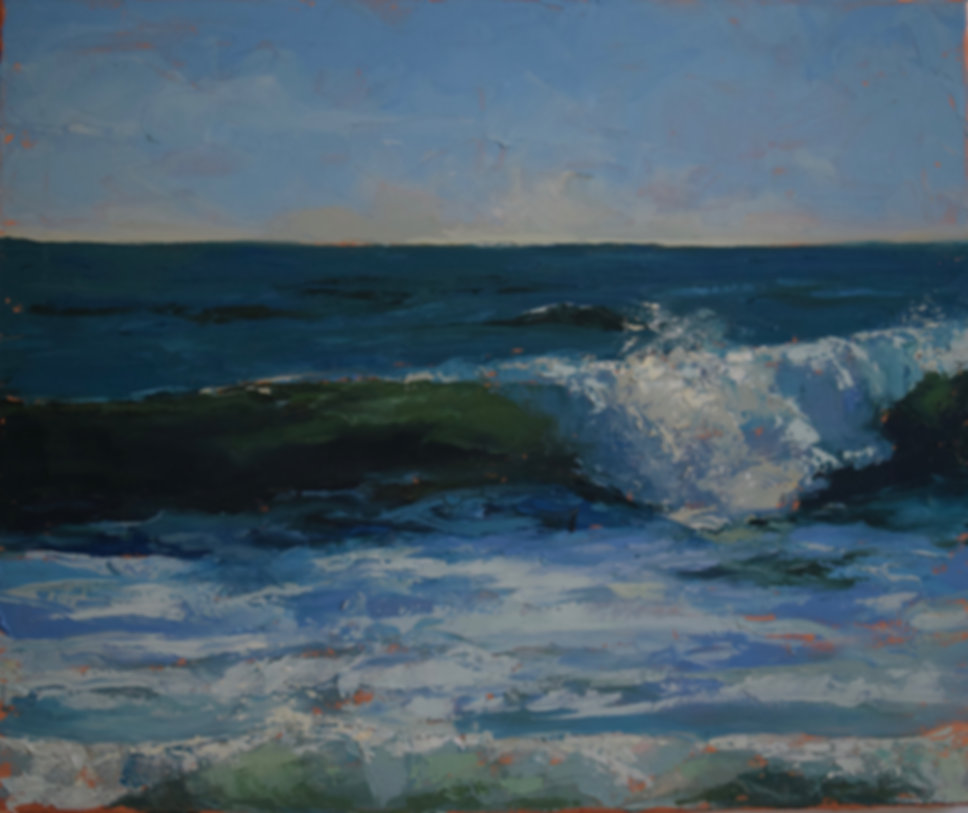The Green Wave (J. van Norden) Oil on canvas.