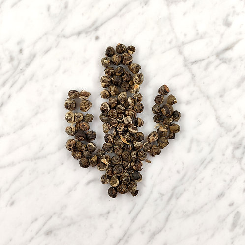 Dragon Pearls - hand-rolled green tea, jasmine