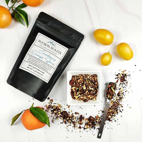 Cranberry Orange Spice - decaf black tea, cardamom, cloves, ginger, cinnamon