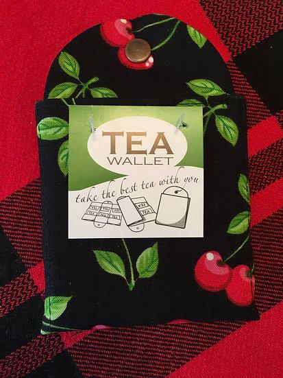 Cherry Print Tea Wallets