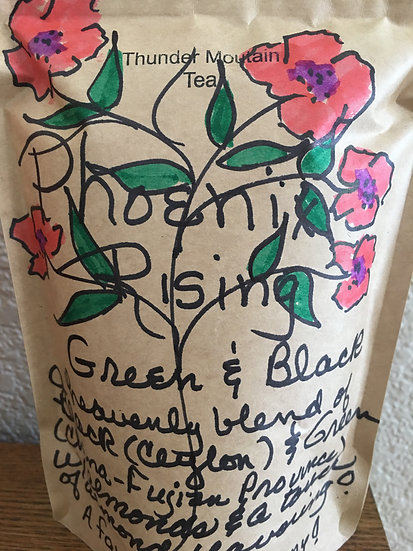 Phoenix Rising (a blend of green and black teas) with NUTS