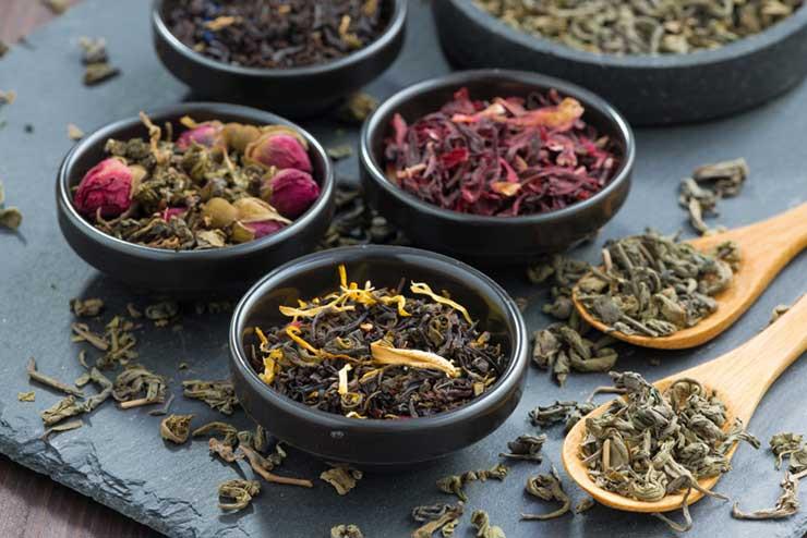 Tucson Tea Company Tea Samples in dishes