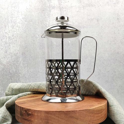 Triangle Design French Press, 2.5 cups (20 oz), chrome