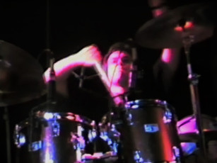 DM Tour Pix- John killing the drums. 1992
