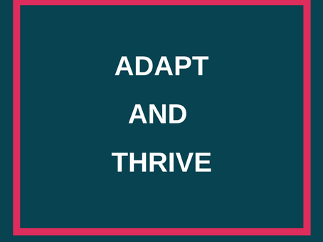 Adapt and Thrive... doing well with less.