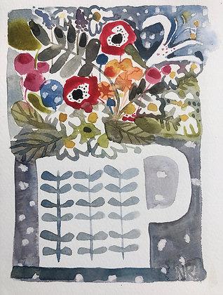 Garden flowers A5 Watercolour