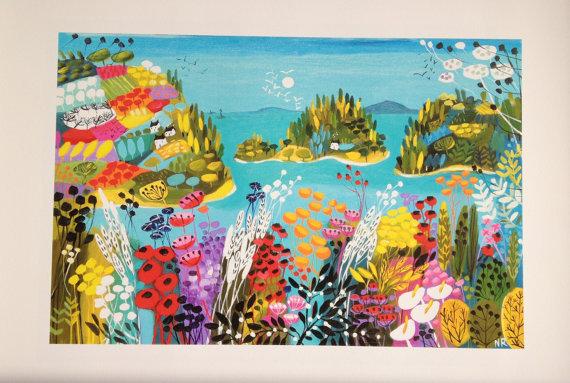 Secret Island giclee print