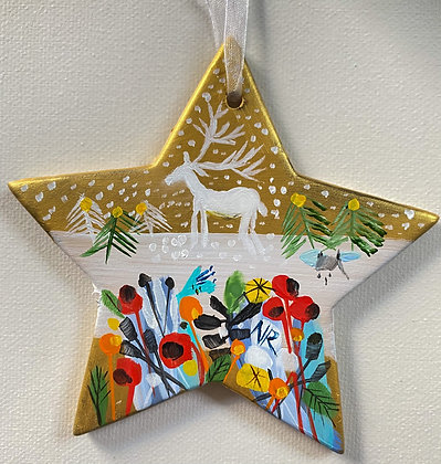 Gold Star White Stag