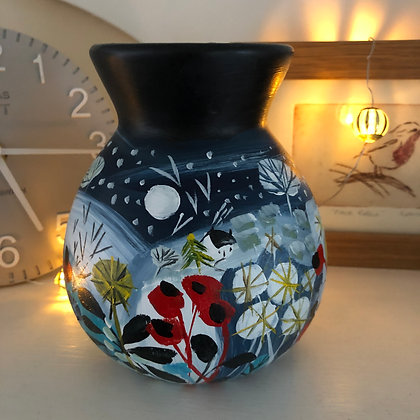 SOLD Winter Sparkle Vase