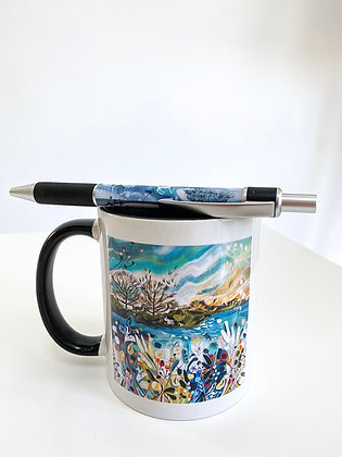 Winter Scenes Mug And Pen Combo