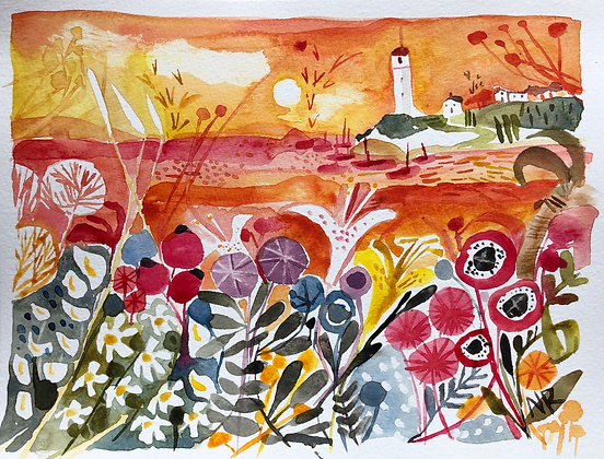 To The Lighthouse A4 Watercolour Posted after 22nd July