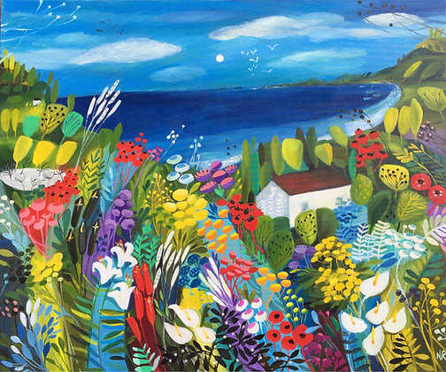 Home by The Sea Giclee Print