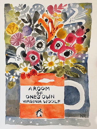 A Room Of Ones Own A4 Watercolour