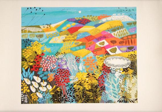 Across the Fields giclee print