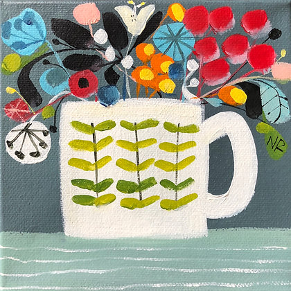 SOLD Mug And Flowers