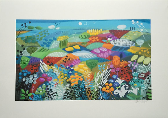 Dancing Flowers giclee print