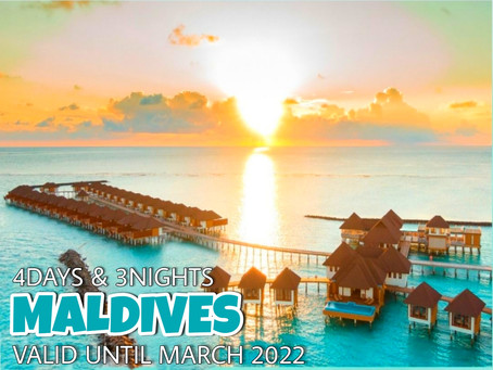 4 Days and 3 Nights - Incredible Maldives Package.