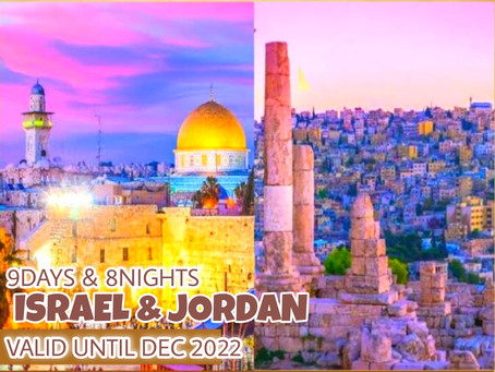 9 Days and 8 Nights - Bible Tour Israel and Jordan Package.