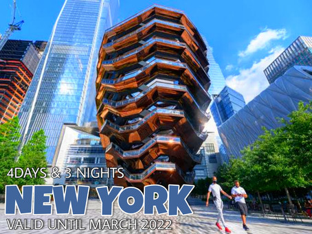 4 Days and 3 Nights  - New York Package.