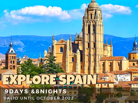 9 Days and 8 Nights - Explore Spain Package.