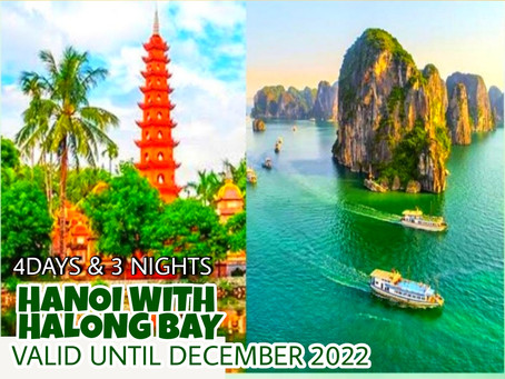 4 Days and 3 Nights - Hanoi with Halong Bay Package.