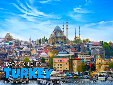 7 Days and 6 Nights Eyes of Turkey Package.