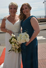 Emma with her mum at her mums wedding