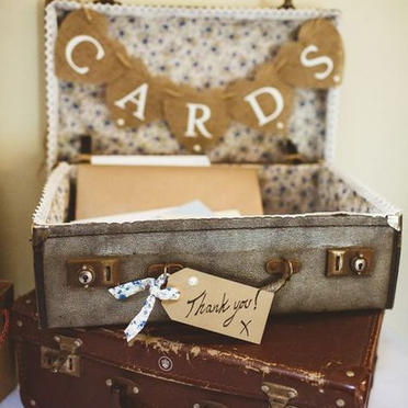 Vintage suitcase for cards