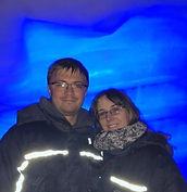 Emma and her partner in Iceland