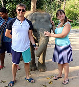 Emma and her partner in Thailand