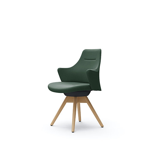 Lives Work Chair - Low Back (Wooden base)